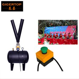 Wholesale Manual Valve - TIPTOP TP-T185 Stage High Distance Air Jet Confetti Paper Machine Electrical Solenoid Valve Manual Control High Height Y Pipe Jet
