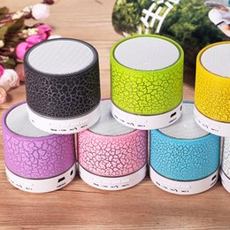 Wholesale Mp3 Lighting - Smart LED Light Crack Mini Wireless Bluetooth Speaker Portable Bluetooth Stereo Speaker Support TF Card For iphone Smart phone