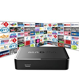 Wholesale Tv Receivers Box - Top Quality IPTV BOX MAG 250 with 1100+Live TV Channels IPTV Box