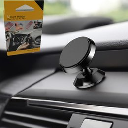 Wholesale Silver Mounts - Magnetic Holder Car Mount Dashboard Mount Stand Magnet phone Support With adhesive Magnetic Stand Car Mount Holder Smart in Box