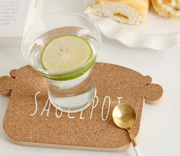 Wholesale Heat Resistant Wood Round Shape Saucepot Cork Coaster Tea Drink Wine Coffee Cup Mat Pad Table Decoration