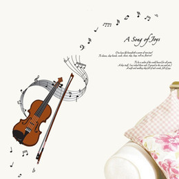Wholesale Modern Art Music - 50*70cm Wall Stickers DIY Art Decal Removeable Wallpaper Mural Sticker for Bedroom Music Room Yoga Room DM57-0001 A Song of Joys