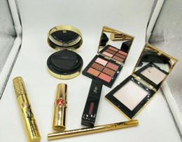 Wholesale Powder Eyebrow Pencil - Popular Air cushion - 6 color eye shadow and cream powder and eyebrow pencil and lip glaze + lipstick + mascara - Free Shipping + Free Gift