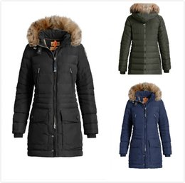 Wholesale Down Double Green - 2017 Women Thin light Brand Down jacket WINTER PJS-CRYS Down & Parkas Big coyote Fur Collar White goose down Outerwear & Coats WITH FUR HOOD