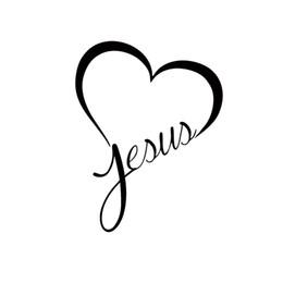 Wholesale Hot Bumper Stickers - Hot Sale Jesus Heart Vinyl Decal Sticker Car Window Wall Bumper God Love Christ Bible JDM