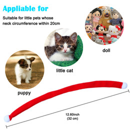 Wholesale Pet Santa - Mini Santa Scarf for Pet Dog Cat Puppy Doll Tie Neck Neckerchief Christmas Accessories Decoration Doll