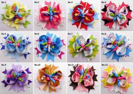 """Wholesale Spikes Head - Baby head wear 4.5"""" spike boutique hair clips bows flower korker kids girl gift headwear accessories"""