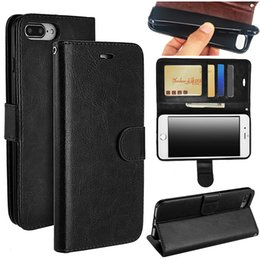 Wholesale Flip Phone Holder - For iphone X 8 7 7Plus TPU Holder Wallet Leather Case Flip Vintage Retro Phone Cases Cover For Samsung S8 S9 Plus