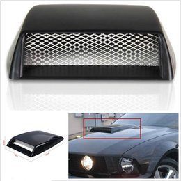 Wholesale Car Bonnets - Autos Car Decorative 3D Simulation Air Flow Intake Hood Scoop Bonnet Vent Cover Free shipping