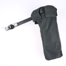 Wholesale Drum Sticks Case - Wholesale- Drum Sticks Holders Black Canvas Clip On Stand Drumsticks Cases Drummer Accessories New