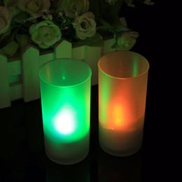 Wholesale Electronic Candle Light Sensor - LED Electronic Candle Night Light Sound Sensor Control Flicker Flameless Valentine Decor Home Party Decoration 1Pcs