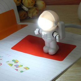 Wholesale Christmas Tree Books - Wholesale- USB LED Night Light Lamp Space Astronaut Night Lamp For Bedroom Reading Book Light For PC Notebook Laptop Computer