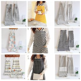 Wholesale Wholesale Aprons For Kids - Funny Cartoon Ins baby Kids Aprons For Adult And Child Parent-child Housework Apron Kitchen Cookin Cute Apron 9 design KKA2064