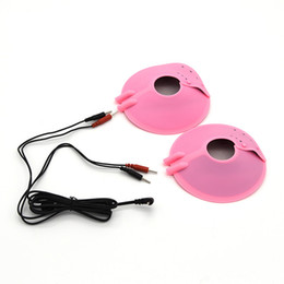 Wholesale Female Massagers - Electro Shock Breast Bondage Stimulation Paste Electric Shock Massagers Estim Sex Toys For Female Electro Sex Accessory