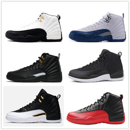 Wholesale Rose Cuttings - 12s Classic 12 french gamma blue basketball shoes taxi ovo black nylon wings flu game 12s US8-13 rising sun cherry sneakers women men