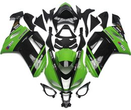 Wholesale Kawasaki Bike Fairing Zx6r - Free Windscreen New Motorcycle bike ABS Fairing Kits Fit For kawasaki Ninja 07 08 ZX6R 636 2007 2008 ZX-6R fairings bodywork set green black