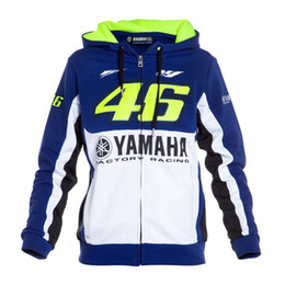 Wholesale Men S Moto Jacket - Free shipping 2016 brand new moto gp for yamaha brand vr 46 motorcycle sweater pullover casual hooded cotton men's sweater