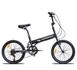 Wholesale Mtb Bike Full Suspension - 20 inch mountain bike 6 speed bicycle V brake high carbon steel bicycle folding bike 145-185CM MTB HITO BIKE