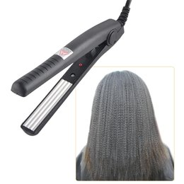 Wholesale wholesale ceramic hair straighteners - Electric Hair Straighteners traightening Corrugated Iron Hair Crimper Corn Plate Mini Ripple Styling Corrugation Styling Tools 0604089