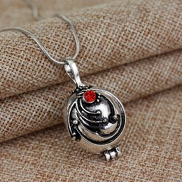 Wholesale Vampire Diaries Vervain Necklace - 2017 New The Vampire Diaries Necklace Elena Gilbert Vintage Vervain Verbena Pendant Photo Locket Jewelry For Men And Women