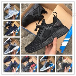 Wholesale Genuine Leather Skull - 2017 NMD XR1 x Mastermind Japan Skull Men's Casual Running Shoes for Top quality Black Red White Boost Fashion Sneakers Size 36-45 US 5-11