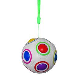 Canada DHL Rainbow Fidget Ball Casse-tête difficile Puzzle Casse-tête Cube magique EDC Nouveauté Fidget Football Casse-tête Jouets éducatifs Avec une corde Offre