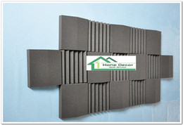 Wholesale Insulation Soundproofing Materials - Black color Acoustic Foam Panels Soundproofing Insulation Material for Absorbing Low Frequency Sound Waves Music Rooms 210*90*7.5cm