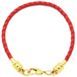 Wholesale Jade Wholesale Singapore - manufacturers selling cowhide rope Bracelets stainless steel buckle love heart shape buckle contracted han edition bracelet Support MixedLot