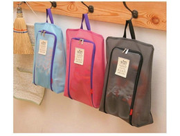 Wholesale Travel Laundry Bags - Portable Waterproof Shoe Bag Travel Tote Toiletries Laundry Pouch Storage Case Hanging Bag Organizer Shoes Zipper Tote Mesh Bag