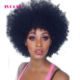 Vierge Malaisienne Afro Crépus Bouclés Full Lace Perruques de Cheveux Humains Sans Colle Avant Dentelle Perruque de Cheveux Humains Avec Bébé Cheveux Grade 8A ? partir de fabricateur