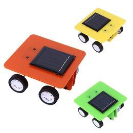Wholesale Solar Energy Butterfly - Wholesale- DIY Solar Toy Car Assemble Solar Vehicle Car Mini Solar Energy Powdered Toys Racer Game Child Education Toys