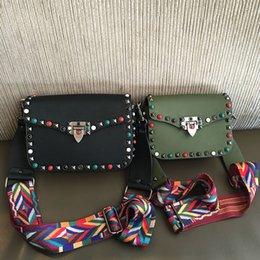 Wholesale Mini Square Cell Phone - New retro mini turquoise rivets eather woman bag shoulder Messenger small square bag