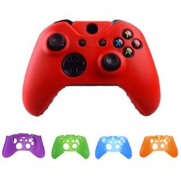 Wholesale Xbox One Skins - 1 PCS Soft Silicone Rubber Protective Game Pad Cover Protector Skin Case Cover Protect Game Pad for Microsoft Xbox one Controller 7 COLORS