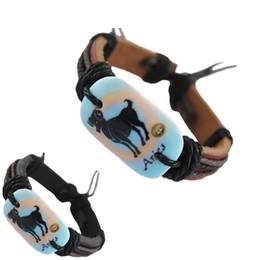 Canada bracelet en cuir véritable réglable noir brun gros lots Aries chaîne de charme surfer chaînes hommes chaud bracelet à la main bracelet (DJ361) supplier aries charms Offre