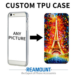 Wholesale Iphone Wallet Eiffel - 100pcs Eiffel Tower Customized Cell Phone Case Personalized DIY Custom Printed Hard Back Case Cover For iPhone6 7