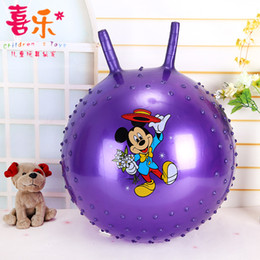Wholesale Wholesale Bouncing Inflatables - Childrens toy ball 45cm horn ball massage cute cartoon pattern inflatable bouncing ball distribution bucket wholesale