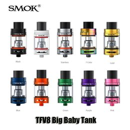 Wholesale Wholesale Baby Boxes - Authentic SMOK TFV8 Big Baby Tank 5.0ml Top Filling Airflow Control Atomizer For 510 thread Box Mod