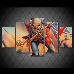 Wholesale Movie Canvas Art - 5 Pcs Set Framed HD Printed Skull Art Movie Picture Wall Art Canvas Print Decor Poster Canvas Oil Painting