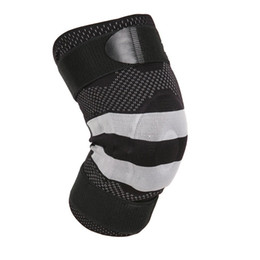Wholesale Medical Braces Supports - Premium Basketball Running Sports Safety Orthopedic Medical Silicone Patella Massage Knee Brace Support Pads with Compression Straps