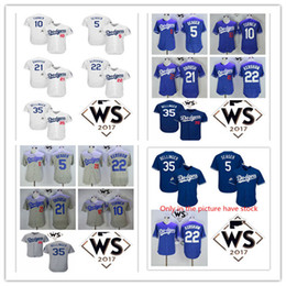 Wholesale Los Dodgers - Los Angeles Dodgers 5 Seager 22 Clayton Kershaw 35 Cody Bellinger 10 Turner 21 Yu Darvish 2017 World Series Bound player jerseys