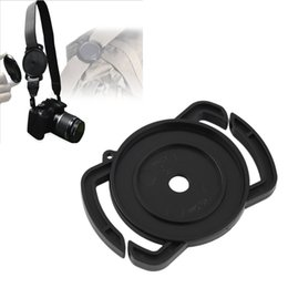 Wholesale Lens Cap Buckle - Wholesale-New ABS Camera Lens Cap Holder Buckle Safety Keeper Anti-lost for 40.5mm 49mm 62mm Wholesale