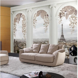 Wholesale Hd Mural - Wholesale- Customize size High Quickly HD mural 3d wallpaper cylinder europe papel de parede 3d wall paper self adhesive wallpaper