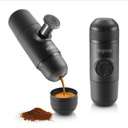 Wholesale Coffee Box Set - 70ml Hand pressing Coffee machine outdoor coffee cup car drink sets minipresso trip carry coffee bottle gift