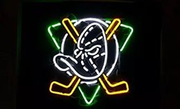 "Wholesale Duck Bar - New 24""x20"" Sports Team AD Ducks Neon Sign Man Cave Signs Sports Bar Pub Beer Neon Lights Lamp Glass Neon Light"