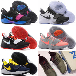 Wholesale Shining Pu Leather - 2017 New Top Quality Paul George PG1 I Men's Basketball Shoes PG 1 Ivory Zoom Low Cut Ferocity Shining Trainer Sneaker Size 40-46 .