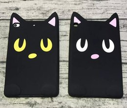 Wholesale Silicone Cartoon Case Ipad Mini - Cartoon 3D Cover Cat Silicone Case for iPad 3 4 5 air 2 pro 9.7 Mini 4 3 2 new 2017