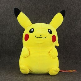 "Wholesale Quality 16 Movies - 1pcs High quality Pikachu Plush Backpack 16""40cm Anime Plush Toys For Kids Free Shipping"