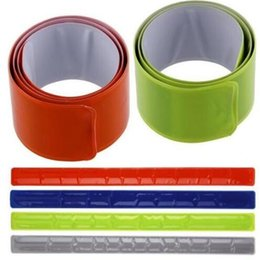 Wholesale Binding Strips - New Hot 1PC Running Fishing Cycling Reflective Strips Warning Bike Safety Bicycle Bind Pants Leg Strap Reflective Tape