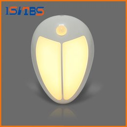 Wholesale Infrared Motion Sensor Mini - Mini Wireless Infrared Motion Sensor Baby LED Night Light Porch Wall Lamp for Bedroom Hallway Cabinet Stairwells Kitchen Closet