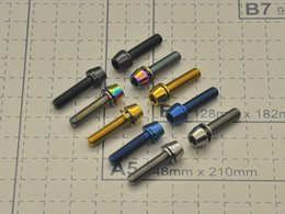 Wholesale Mountain Bike 21 Speed - M5X18 Titanium colorful Allen Hex Tapered MTB Bicycle Ti Bolt Screw